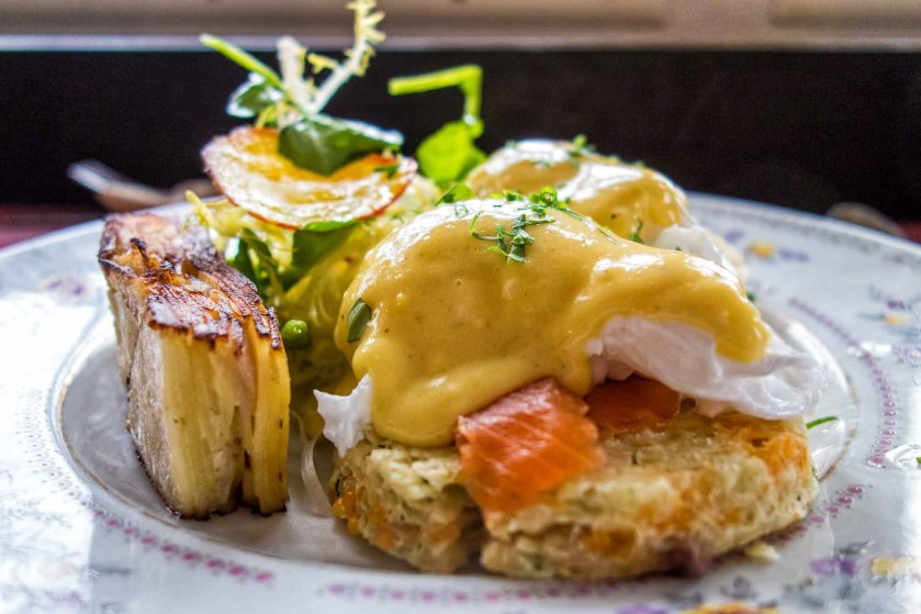 Eggs benny with gravlax, Farmhouse Tavern, Toronto